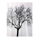 Bisk Duschvorhang, Motiv Schwarzer Baum, 180x200cm, Weiß