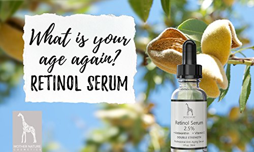 Retinol Serum – Mother Nature® | Anti-Aging – Pflege auch für empfindliche Haut | Hochdosiert 2,5% Retinol für Gesicht & Haut | inkl. Hyaluronsäure und Vitamin E | 30 ml - 4