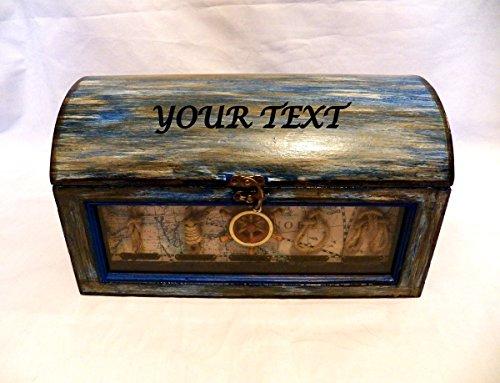 Kasten, Box, Nautische Hochzeit Box, Benutzerdefinierte Nautische Box, Strand-Hochzeit-Box, Seashore-Box, Nautische Schmuckschatulle (Benutzerdefinierte Brust)
