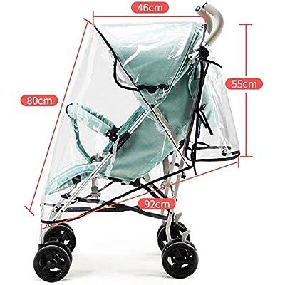 iYoung mkity Burbuja de Lluvia Protector Cubierta contra Lluvia y Viento Impermeable para Silla de Paseo de Bebé y Carrito con una Bolsa Organizadora de Malla para Guardar Cosas