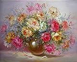 Fcuovog DIY Malen Nach Zahlen Bunte Minion Blume Bilder Wandkunstausgangsdekor Einzigartiges Geschenk 40X50 cm (Kein Rahmen)