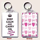 keep Calm AND Carry On weil I Love you Mami Schlüsselanhänger Ein original Geburtstag oder Mutter' Day geschenkidee aus unseren keep Calm AND Carry On Auswahl
