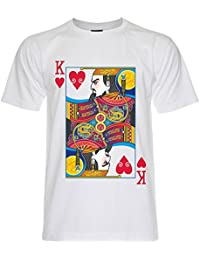PALLAS Men's King of Hearts Playing Cards T-Shirt