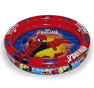 Ultimate Spiderman- Piscina Hinchable, Color Azul y Rojo (Saica 1)
