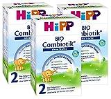 Hipp Bio Combiotik 2 Folgemilch ohne Stärke - ab dem 6. Monat, 3er Pack (3 x 600g)