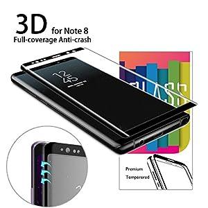 Pellicola Protettiva Samsung Galaxy Note 8, AKPATI HD ultra-chiaro Protezione Galaxy Note 8 Vetro Temperato Compatibile con Custodia Pellicola Protettiva per Samsung Galaxy Note8 - Nero