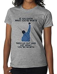 Rocky Balboa cita de motivación diseño para mujer T-Shirt