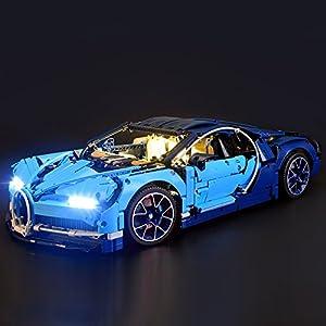 Lightailing Set di Luci per (Bugatti Chiron) Modello da costruire - Kit luce led compatibile con Lego 42083 (NON incluso… LEGO