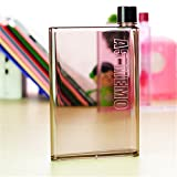 #9: DFS's premium A5 MEMO NOTE BOOK ULTRA SLIM BOTTLE -- Flat Portable Fruit water bottle (450 ml)(1 Piece)(Colors may vary)