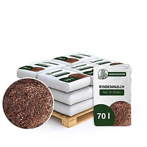 MammutGarten Rindenmulch Kiefer Rinde Garten Fein 10-20mm 70l Sack x 12 STK (840 L)