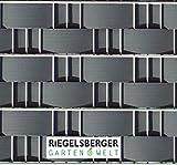5 Stück, RAL 7016 ANTHRAZIT, Maße: 2550 x BREITE 95 mm x 1,55 mm, PREMIUM Sichtschutzstreifen, 6,99 /Stk., Sichtschutz Windschutz Zaunblende Hart PVC Streifen zum Einflechten Kunststoff Doppelstabmatten Zaun Zäune Stahlgitterzäune Sichtschutz Streifen MADE IN GERMANY von Gartenwelt Riegelsberger