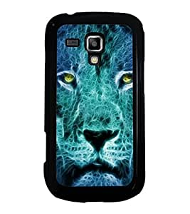 Fuson Designer Phone Back Case Cover Samsung Galaxy S Duos 2 S7582 :: Samsung Galaxy Trend Plus S7580 ( Face Of A Fierce Lion )