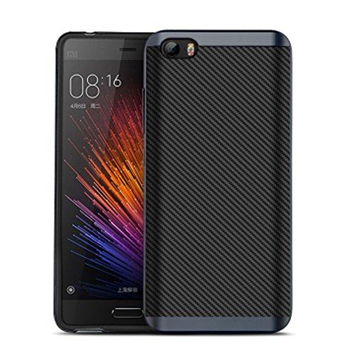 Xiaomi Mi5, CORNMI Design-Cover ibrida in PC e TPU, Custodia protettiva rigida con telaio per Xiaomi Mi M5 5, PLASTICA, grigio, Xiaomi M5 Mi 5
