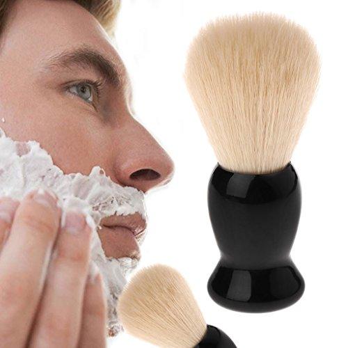 sunhoyu Premium Blaireau de rasage en poils de blaireau en nylon avec manche en polystyrène pour homme