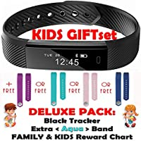 TRENDY PRO Kids Fitness Activity Tracker Children - Smart Wristband Watch 2 Bands