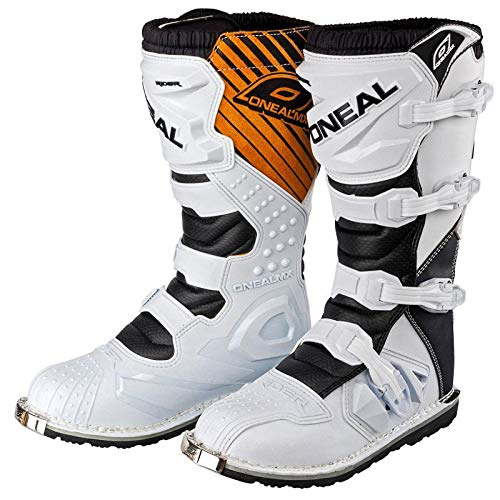 0329-209 - Oneal Rider EU Motocross Boots 42 White/Brown (UK 8)