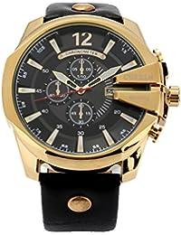 PIXNOR CURREN - Reloj de pulsera para hombres, resistente al agua, calendario, cuarzo, con correa de piel