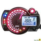 Moto Digital Speedo tachymètre Odomètre KPH & MPH Streetfight Chop Trike