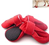Namsan Dog Loch Schuhe Hundewelpen Fashion Stiefel (Medium & Red)