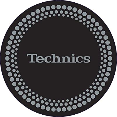 Technics DMC Turntable Slipmats (1 Pair) - Black/Silver