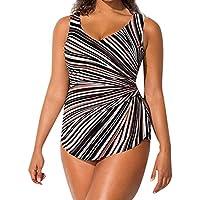Mujer Bañador Sujetador con Relleno Traje de una Pieza Sin Aros Ropa de Baño Cintura Traje de Baño Mujeres Hombro Sin Respaldo Monokini Bikini de una Pieza de Playa de Talla Grande Acolchada