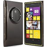 Nokia Lumia 1020 Hülle - Schutzhülle Case Tasche für Nokia Lumia 1020 (Schwarz-transparent)