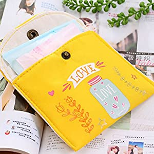 Sanitary Napkin Storage Bag Canvas Sanitary Pads Package Case Coin Purse Jewelry Organizer Credit Card Pouch Regard