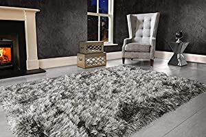 VICEROY BEDDING Modern Extra Large 9cm Thick Dense Pile SHAGGY RUG with SPARKLE SHIMMER Strands - For Living Room Area Rugs - Luxurious Super Soft Touch by VICEROY BEDDING