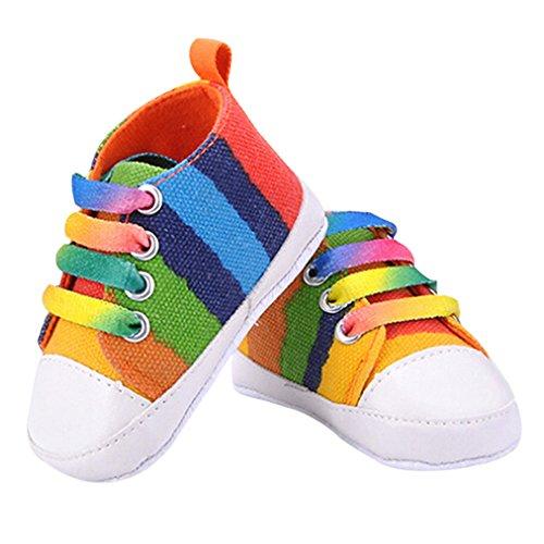 Sanwood® Baby Kids Boys Girls Toddler Canvas Shoes (11cm, Seven Colours)