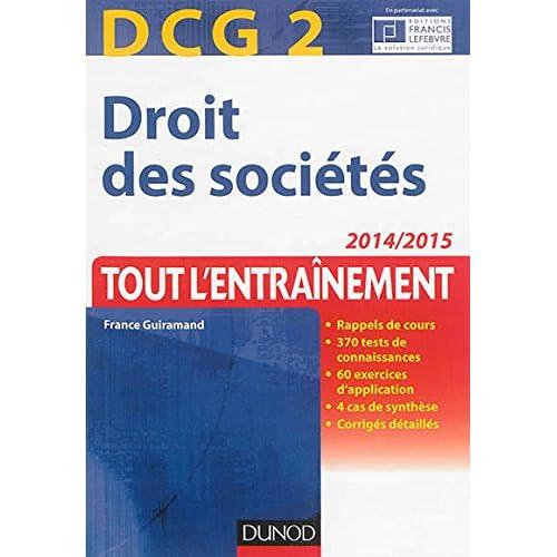 DCG 2 - Droit des sociétés 2014/2015 - 7e éd - Tout l'Entraînement