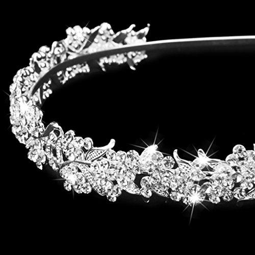 Sharplace Braut Hochzeit Blume Haarreif Diadem Mädchen Stirnband Kronen