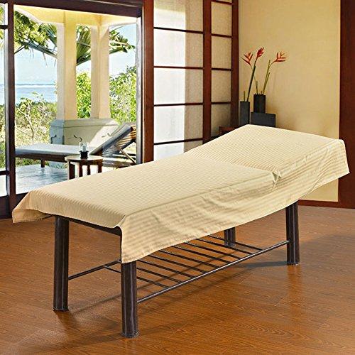 Behandlungsliege,gestreift Massageliege Bezug,Baumwolle Massage-tagesdecke,spa Laken Für Beauty-Salon-b 75x200cm(30x79inch) ()