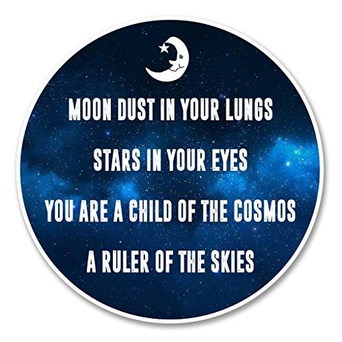 2-x-moon-stars-space-vinyl-aufkleber-aufkleber-laptop-reise-gepack-auto-ipad-schild-fun-6137-30cm-30