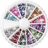 Ruota strass ricostruzione unghie nail-art glitter kit Da Boolavard® TM