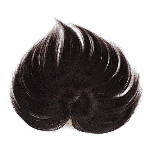 Haar-clip-cover (remeehi Clip in Echthaar Topper glattes Haar Top Schließung teilig Toupets für dünnes Haar Ersatz)