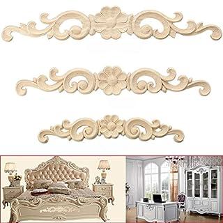 Alcyoneus, Holzdekoration, geschnitzt, für Türen, Möbel, Schränke, Holz-Dekoration, Applikationen, im europäischen Stil, holz, 27*4cm