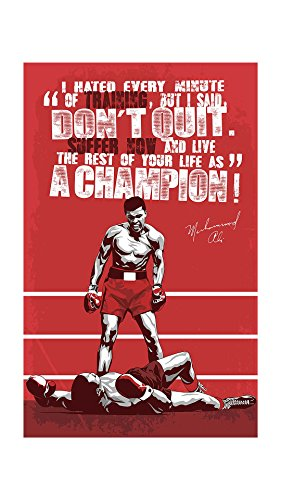 Muhammad Ali Poster for Room | Motivational Poster | Inspirational Poster | Quotes Poster | boxing Poster | Poster for Stratup  available at amazon for Rs.139