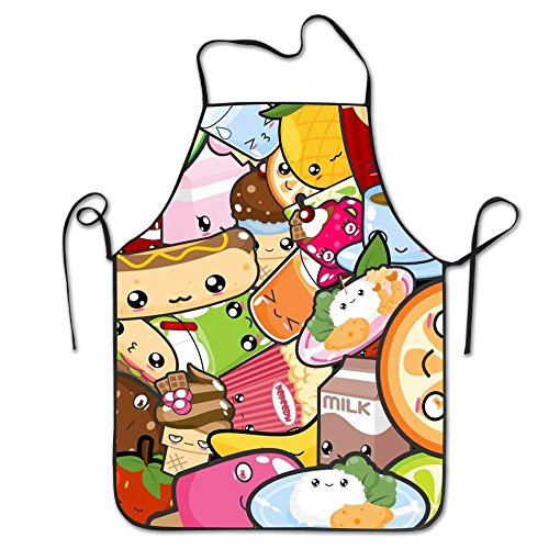 Fs2A1X Cute Food Emoji Womens Girls Painter Apron Kitchen Aprons Perfect  for Cooking,Baking,BBQ