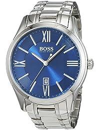 Hugo Boss Herren-Armbanduhr XL Ambassador Round Analog Quarz Edelstahl 1513034