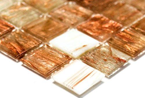 Rete mosaico piastrelle a mosaico quadrato mix gold star trasparente