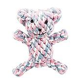 UKCOCO giocattoli da masticare durevoli di cane, giocattolo di pulizia per denti, giocattoli di corda di morsure per animali di peluche per cani e gatti (Blu e Rosa e Bianco)