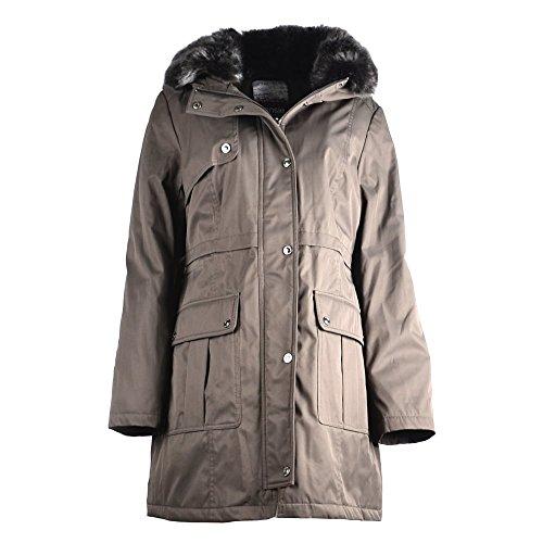 kensie-khaki-chaqueta-abrigo-con-capucha-de-piel-sintetica-mujer-medium-medium-khaki