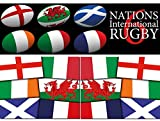 Confezione decorazioni Sei Nazioni Rugby – confezione internazionale (confezione con diverse misure disponibili), Multi, Value