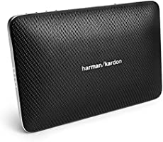 Harman/Kardon Esquire 2 Thin Rechargeable Portable Bluetooth Wireless Speaker System with Built-In 360 Degree Conference Microphone - Black