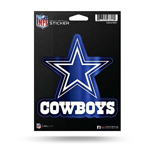 Rico Industries NFL Dallas Cowboys Metallic Aufkleber gestanzt, Blau, 14,5 x 19,1 cm (Cowboys Dallas Aufkleber)