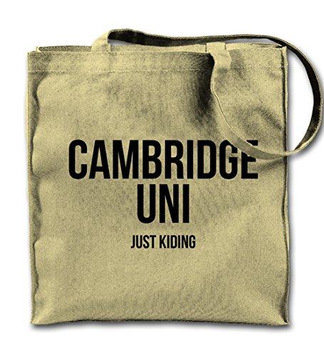 Cambridge Uni Just Kidding Komisch Text Zitat Natürliche Leinwand Tote Tragetasche, Tuch Einkaufen Umhängetasche