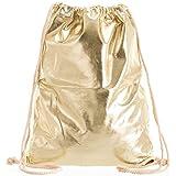 Compagno Turnbeutel Fullprint Rucksack Beutel Tasche Sport-Beutel, Rucksack Farbe:Space Gold
