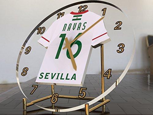 Reloj de sobremesa, diseño de camiseta de fútbol de La Ligaespañola, personalización gratuita con los colores de cualquier equipo, cualquier número y cualquier nombre, mujer hombre Infantil, Sevilla FC
