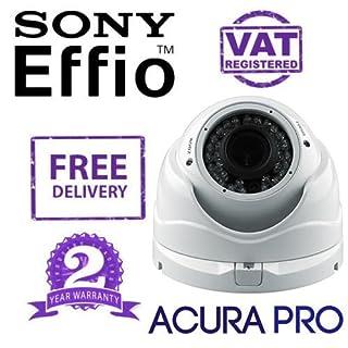 AcuraPRO Sony Effio-E ENHANCED 700TVL VARIFOCAL Infrared Dome CCTV Camera White