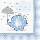 Servietten Elephant blau 16St.